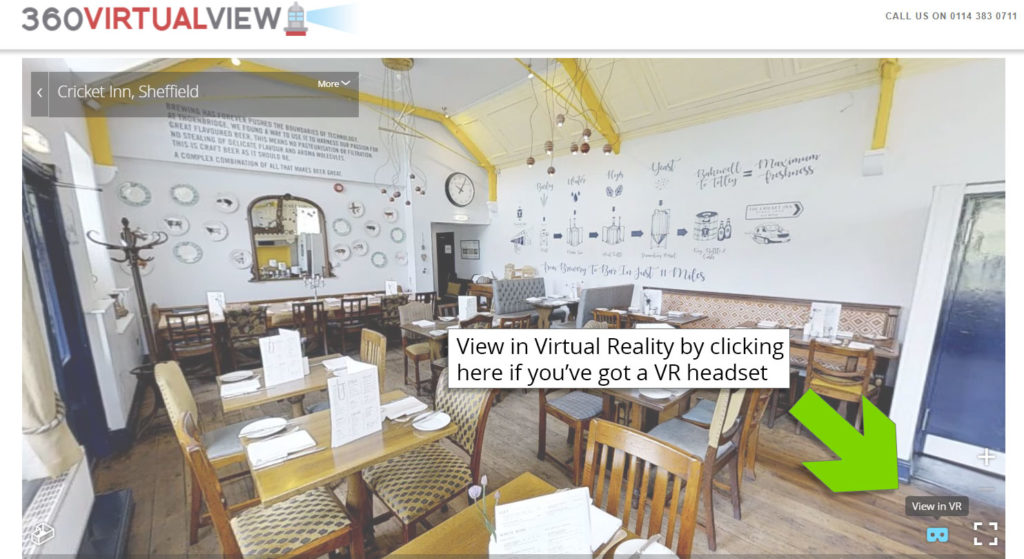 5 - click, tap or press here to view in 'virtual reality' - however, you'll need a VR headset for this such as Samsung Gear or Google Cardboard