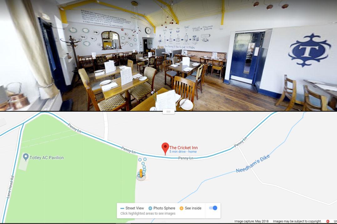Cricket Inn, Sheffield - Google Street View